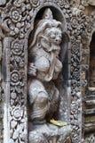 Hinduiska statyer för Balinese i den Ubud slotten, Gianyar, Bali Arkivfoto