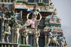 hinduiska statyer för gudar Arkivbild