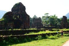 Hinduiska tempel min son Quảng Nam Province vietnam Royaltyfria Foton