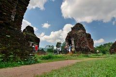 Hinduiska tempel min son Quảng Nam Province vietnam Arkivbild