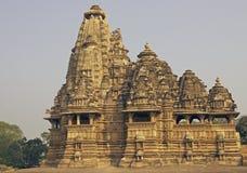 hinduiskt khajurahotempel Arkivfoton