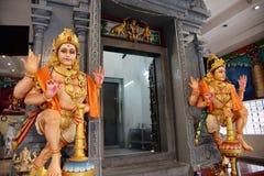 hinduiskt krishnan singapore sritempel Arkivfoton