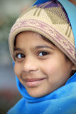 hinduiskt le för flicka arkivfoton