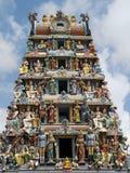 hinduiskt mariamman singapore sritempel arkivbilder