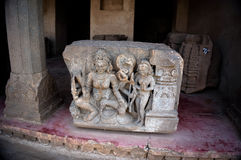 hinduiskt reliefestempel för bas ranganathaswamy sritempel Arkivbild