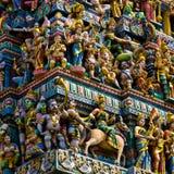hinduiskt singapore tempel Arkivfoto