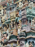 hinduiskt tempel för detalj arkivbilder
