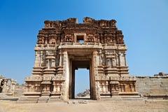 Hinduiskt tempel, Hampi arkivfoton