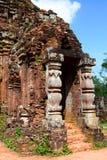 hinduiskt tempel min son Quảng Nam Province vietnam Royaltyfri Bild