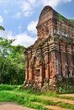 hinduiskt tempel min son Quảng Nam Province vietnam Royaltyfri Fotografi