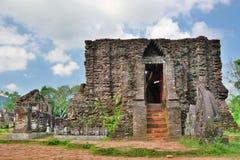 hinduiskt tempel min son Quảng Nam Province vietnam Royaltyfria Foton