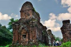 hinduiskt tempel min son Quảng Nam Province vietnam Arkivfoto
