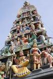 Hinduiskt tempel, Singapore Arkivbilder