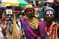 hinduiskt vallfärdar Arkivfoton