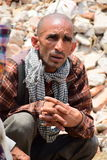 Hinduism funeral rites and ceremonies at collapsed building after earthquake disaster. Kathmandu Nepal - May 7 2015 :Hinduism funeral rites and ceremonies at Stock Photography