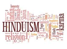 Hinduism. Karma way of life. Word cloud sign Royalty Free Stock Photography