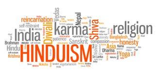 Hinduism. Karma way of life. Word cloud sign Stock Image