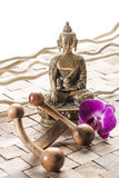 Hinduism and relaxation for inner beauty Stock Photos