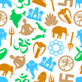 Hinduism religions symbols Royalty Free Stock Photos