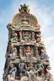 Hinduism statue of Sri Mariamman temple in Singapore. Hinduism statue of Sri Mariamman temple at China town in Singapore Stock Image