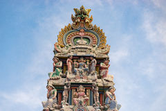 Hinduism statue of Sri Mariamman temple in Singapore Stock Photos