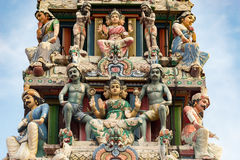 Hinduism statue of Sri Mariamman temple in Singapore. Hinduism statue of Sri Mariamman temple at China town in Singapore Stock Photography