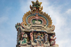 Hinduism statue of Sri Mariamman temple in Singapore. Hinduism statue of Sri Mariamman temple at China town in Singapore Stock Photos
