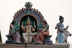 Hinduism statue of Sri Mariamman temple in Singapore. Hinduism statue of Sri Mariamman temple at China town in Singapore Stock Images
