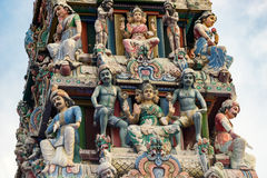 Hinduism statue of Sri Mariamman temple in Singapore. Hinduism statue of Sri Mariamman temple at China town in Singapore Royalty Free Stock Photo