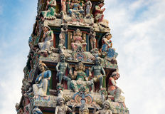 Hinduism statue of Sri Mariamman temple in Singapore. Hinduism statue of Sri Mariamman temple at China town in Singapore Stock Photo