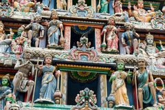 Hinduism statue of Sri Mariamman temple in Singapore. Hinduism statue of Sri Mariamman temple at China town in Singapore Royalty Free Stock Photos