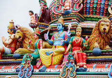 Hinduism statues. In the temple royalty free stock image