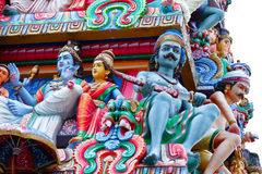 Hinduism statues. In the temple royalty free stock photos