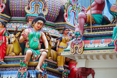 Hinduism statues. In hinduism temple royalty free stock photo