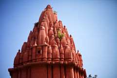 Hinduism stupa. A hinduism stupa with red color near the riverside of Ganges River in Varanasi India Stock Image