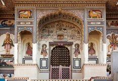 Hinduism van de tempel in Mandawa Rajasthan Royalty-vrije Stock Afbeelding