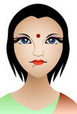 Hinduism Woman. Vector Illustration of Hinduism Woman Stock Photo