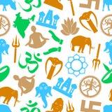 Hinduismreligionsymboler stock illustrationer