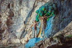 Hinduismstaty av templet på Batu grottor i Kuala Lumpur Arkivfoto