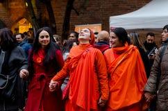 Hinduist kobiety śpiewa i ono modli się Zdjęcia Royalty Free