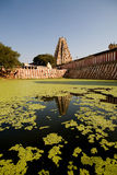 Hinduist temple and water pool Stock Photography