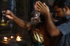 Hinduistische Pilgerer Stockfotografie