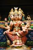 Hinduistische Statuen bei Batu höhlt Kuala Lumpur Malaysia aus stockfoto