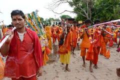 Hinduistischer eifriger Anhänger Stockbild