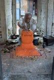 Hinduistischer Mann in Bhaktapur lizenzfreies stockbild