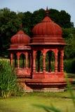 Hinduistisches achitecture, rotes Schongebiet Lizenzfreie Stockfotos