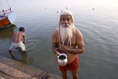 Hinduistisches disciplinant Stockfoto