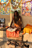 Hinduistisches Sadhu Stockfotos