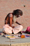 Hinduistisches Sadhu Lizenzfreie Stockbilder
