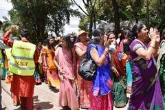 Hindus庆祝在肯尼亚 免版税库存图片